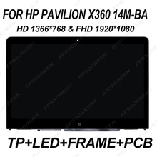 14″ for HP Pavilion X360 14M-BA 14-BA HD 1366×768 & FHD 1920*1080 LCD Screen Touch Display Assembly+Frame MONITOR +DIGITIZER