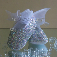 Bling Newborn Custom baby name and birthday prewalkers fancy dazzling kids fashion infant noble shoes