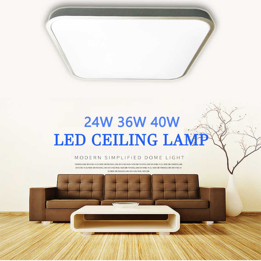 ceiling led lighting lamps square modern bedroom living room lamp surface mounting balcony  24w  36w 40w  AC 110V/220V ceiling