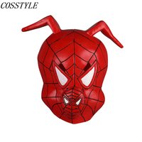 Spider Man: Into the Spider Verse Cosplay Spider Ham Peter Porker Latex Mask for Adult Halloween Party Prop Red Pig Mask Cosplay