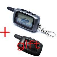 Twage A6 LCD Fernbedienung Keychain + Silikon Fall Für Fahrzeug Sicherheit Zwei Weg Auto Alarm StarLine A6 Keychain-in Alarmanlage aus Kraftfahrzeuge und Motorräder bei