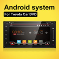 For Quad core android 4.4 Toyota Universal Car DVD player GPS with Radio Bluetooth 3G SD RDS DDR 3 1GB 16G flash mirror link