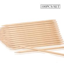 100PC Orange Sticks Cuticle Pusher Sticks For Manicure Pusher For Nail Wooden Sticks For Nail Manicure Set Tools For Manicure cheap COSCELIA 1 Set Cuticle Removal Nail Tools