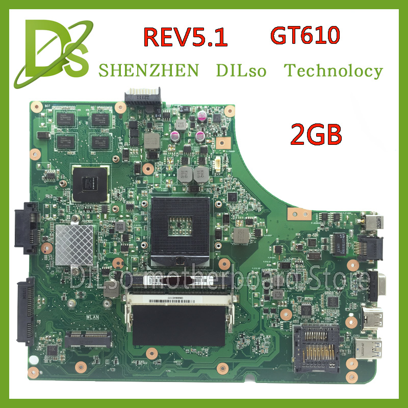 KEFU K53SD HOT!!!For Asus K53SD motherboard REV 5.1 laptop motherboard with Graphics card GT610M 2GB 100% tested freeshipping ipc motherboard sbc81206 rev a3 rc 100