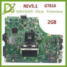 KEFU K53SD HEIßER!!! Für Asus K53SD motherboard REV 5,1 laptop motherboard mit grafikkarte GT610M 2 GB 100% getestet freeshipping