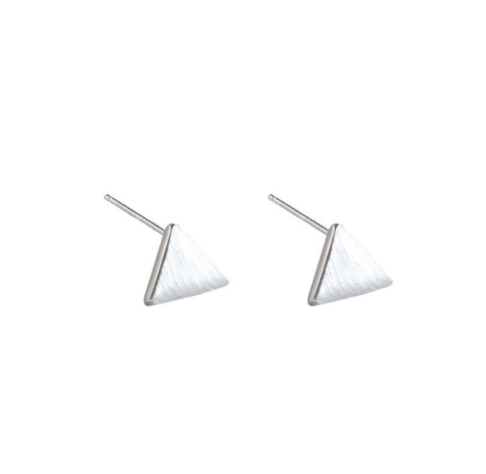 ZTUNG  LSC44  women fine jewelry,925 silver triangle ear stud,simple earring for  daily wearZTUNG  LSC44  women fine jewelry,925 silver triangle ear stud,simple earring for  daily wear