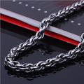 2016 Mens Women 316l Stainless Steel Chain popcorn Curb Cuban Necklace 4mm wide size for men neck Jewelry
