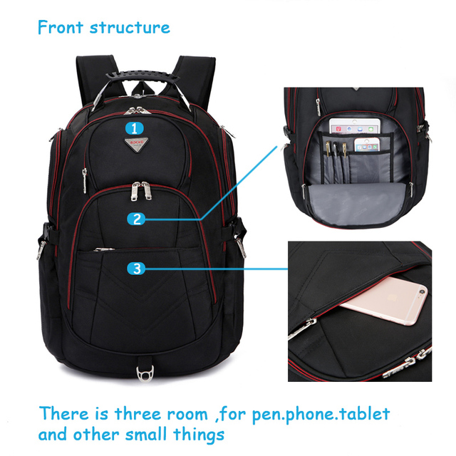 Laptop Backpack  for 17 17.3 18 18.4 Inch big capacity travel backpack computer knapsack with many Rooms for man woman
