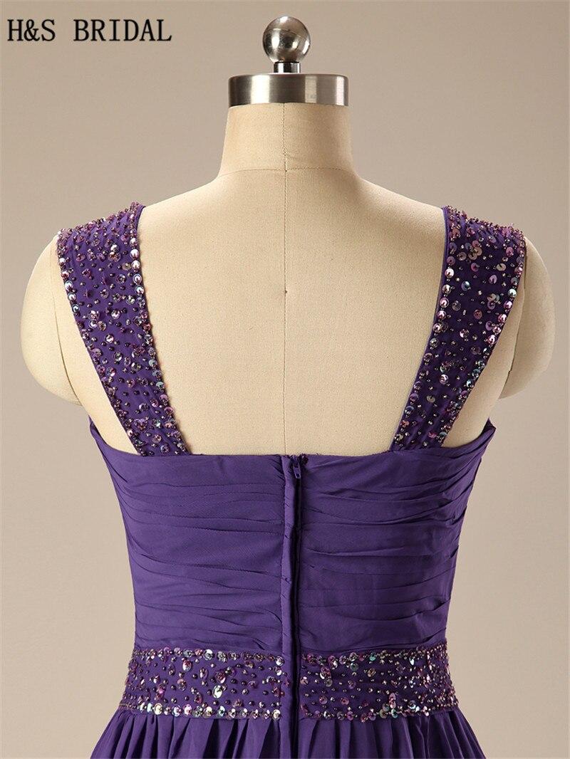 h & s braut lila chiffon formale abendkleider sexy kleider abendmode mit  riemen abendkleid echt bild vestido longo