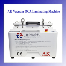 New 12 inch AK 2 in 1 OCA Vacuum Laminating Machine Debubbler with Bubble Removing Function for Glass Screen Refurbish