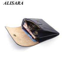 Geldbörsen frauen brieftaschen aus echtem leder Mini Geldbörse kleine Münze beutel Haspe & reißverschlusstasche Kartenhalter Tasche männer Rindsleder brieftasche