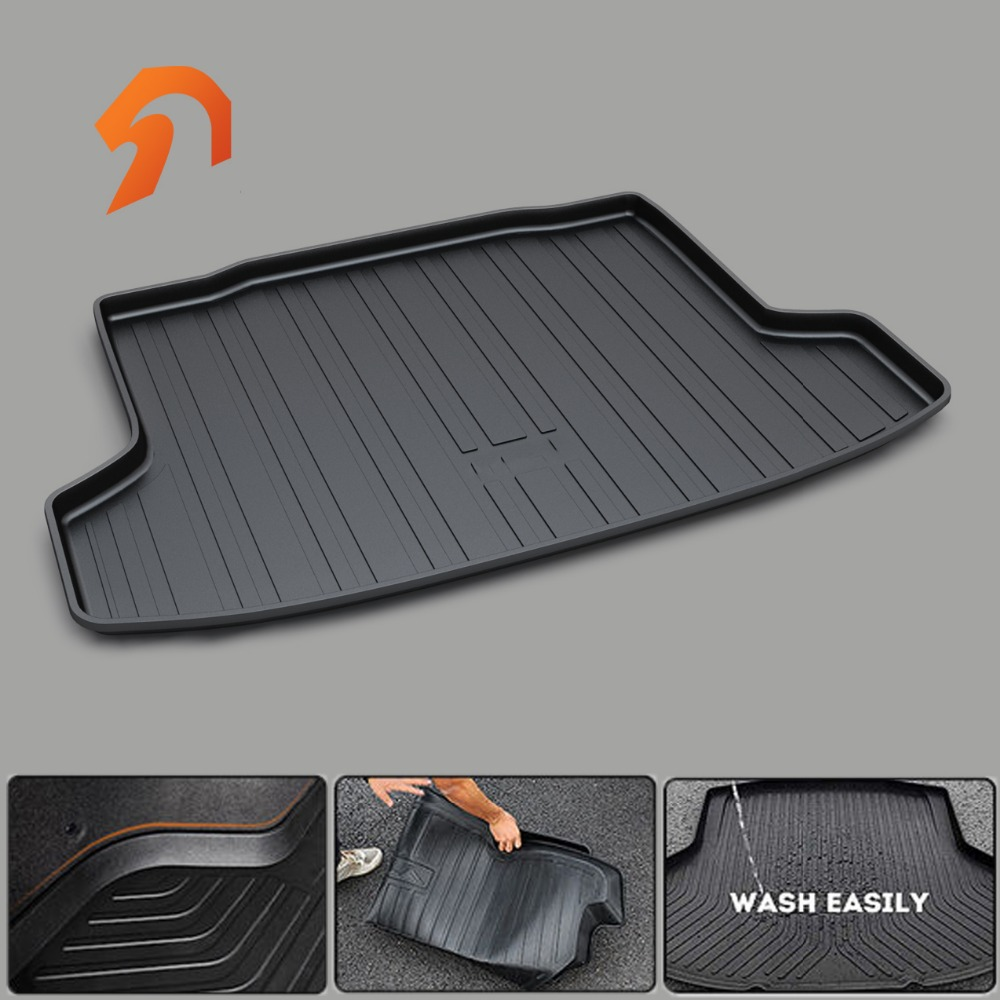 FIT FOR KIA RIO 2011-2017 BOOT LINER REAR TRUNK CARGO MAT FLOOR TRAY CARPET MUD COVER PROTECTOR 3D car-styling carpet rugs uk hong kong macao right steering wheel drive version car rugs mat for volkswagentouareg special latex rubber floor carpet