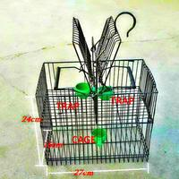 Najbardziej darmowa wysyłka PRZENOŚNY Ptak PUŁAPKA Pest Control Ochrony SPADEK PTAKI Klatka Dla Zwierząt Dostarcza Produkty Narzędzia Ogrodowe