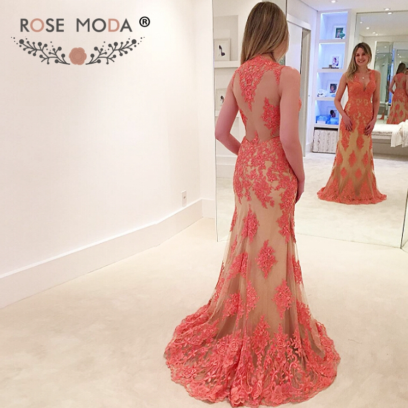 Rose Moda Deep Sweetheart Cap Sleeves Lace   Prom     Dress   with Illusion Back Formal Party   Dress