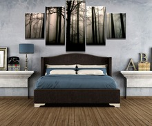 Framed 5 Piece Canvas Art Forest Dawn Cuadros Decoracion Paintings on Wall for Home Decorations Decor Artwork