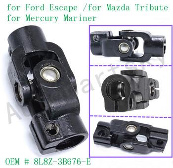 Wał kierowniczy dolny pośredni dla Ford Escape dla Mazda Tribute 2008 2009 2010 2011 2012 8L8Z3B676E 8L8Z-3B676-E tanie i dobre opinie 8L8Z-3B676-E 8L8Z-3B676-C 425-358 China Lower OEM Standard 8L8Z3B676E 8L8Z3B676C 425358 Metal Direct Replacement Easy Installation