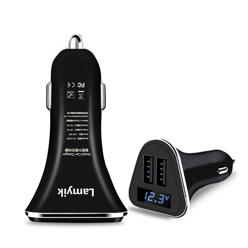 Led Screen Universal Dual USB Car Charger for Samsung iPhone Xiaomi Huawei 2 Ports Car Charger