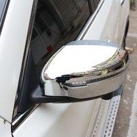 Carmilla 2PCS ABS Rearview Trim Cover Rear View Trim Strip For Nissan Rogue X Trail 2015