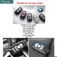 1 PCS Car New DIY Leather Wallet Key Cover Case For Bmw Leather Key Holder New