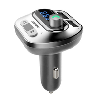 سماعة بلوتوث للسيارة اللاسلكية عدة Fm الارسال مشغل Mp3 شاحن USB مزدوج-في شاشة العرض العلوية من السيارات والدراجات النارية على