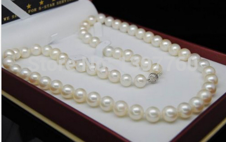 free shupping .204  WG - Fine 11-12mm AAA+ white pearl necklaces 17 Long ()free shupping .204  WG - Fine 11-12mm AAA+ white pearl necklaces 17 Long ()