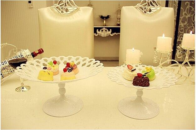 Diamètre 30 cm blanc rond plateau à fruits argent plateau alimentaire décoratif bol à fruits décoratif plateaux en métal pour la décoration de la maison SG088