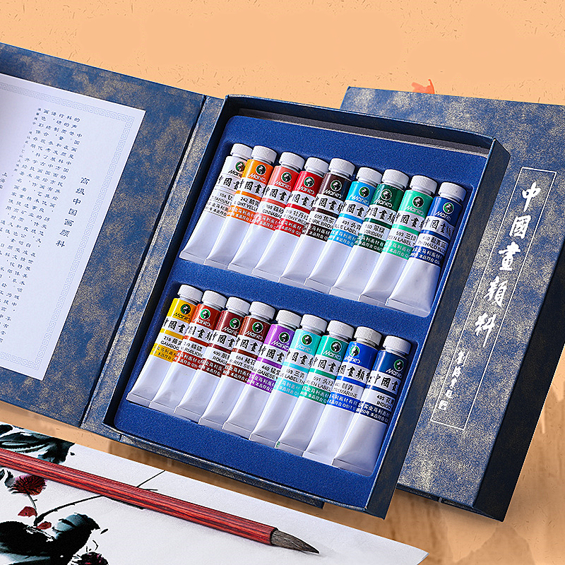 Chinese Paint 12 Colors / 18 Color Sets Professional Art Strokes Chinese Painting Ink Paint