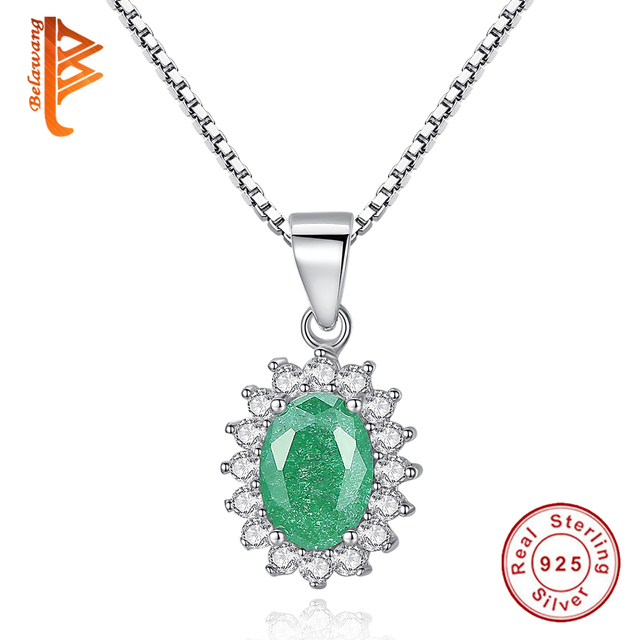 Fashion Women Necklace 925 Sterling Silver Full Crystals Cubic Zirconia Pendant Necklace Jewellery Gift d7PWG