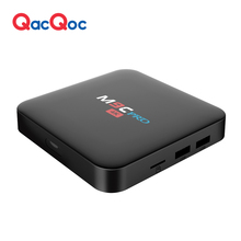 M9C QacQoc pro Android 6.0 TV Box Amlogic S905X/Quad-core de 64 bits/1G/8G eMMC/4 k H.265 HDMI 2.0 VP9 HDR Video Decoder