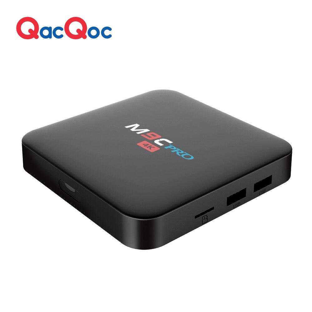 QacQoc M9C pro font b Android b font 6 0 TV Box Amlogic S905X Quad core