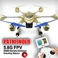 Rc Quad Copter Drone 54 CM Metal HJ816 6-axis Gyro Drone con luz LED 5.8 G FPV cámara de 2MP cámara sin cabeza modo