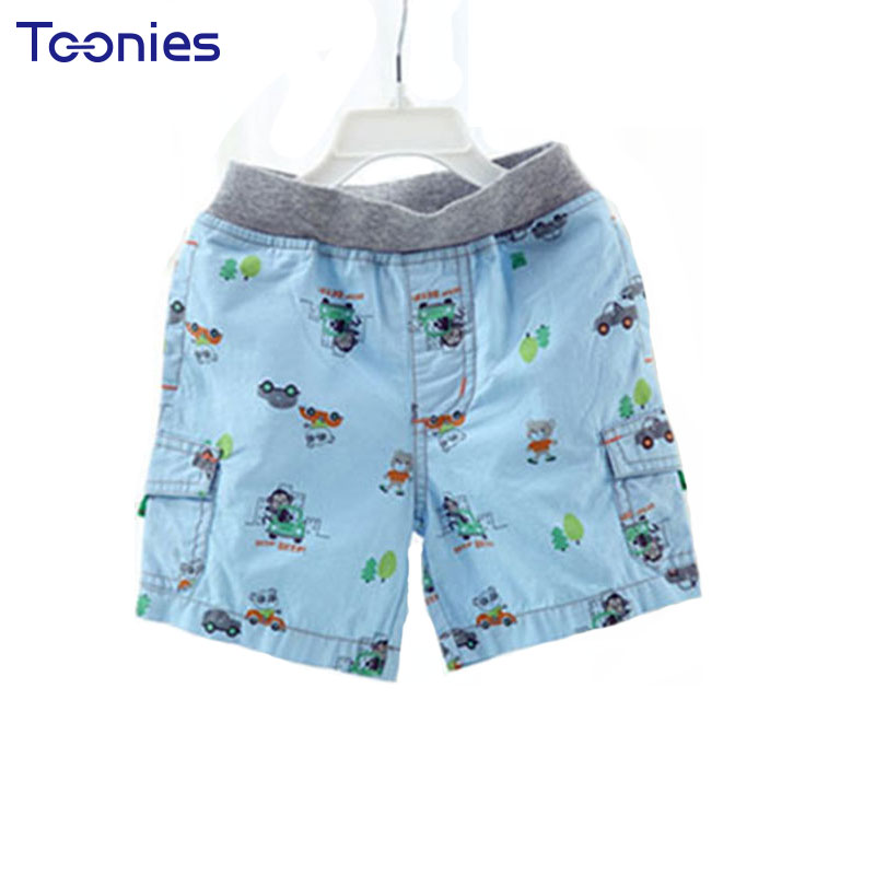 2018 Newest Infant Shorts Lovely Pattern Baby Boys Short Pants Pocket Newborn Clothes High Quality Active Toddler Costume Shorts cute baby infant high qualit toddler chef cotton costume 3 piece clothes hat white top plaid pants for newborn boys suits hot