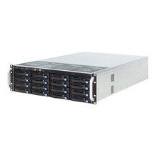 Server Case Chassis 3u-Rack Bays-Storage 19inch Backplane Hot-Swap Minisas with 600W