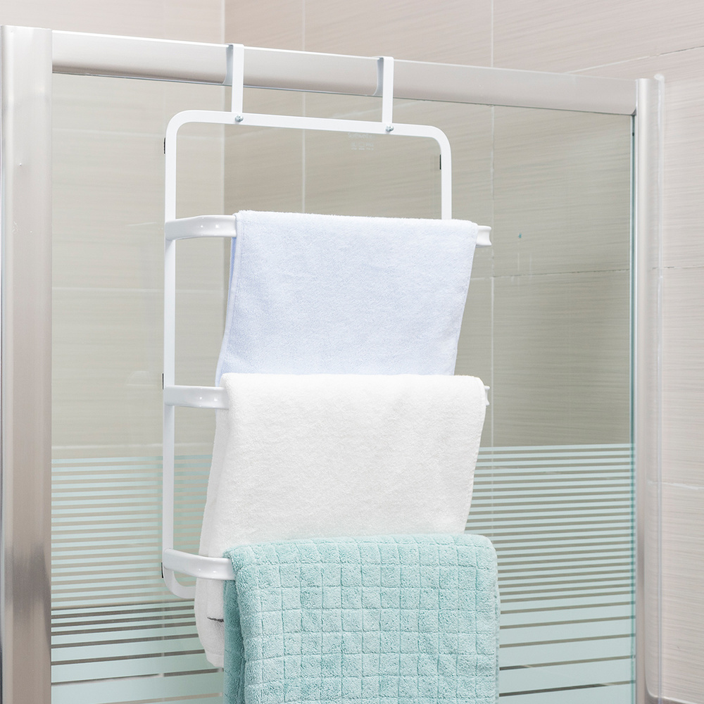 Creative iron door back towel rack bathroom storage rack wall hanging towel shelf wx10201734