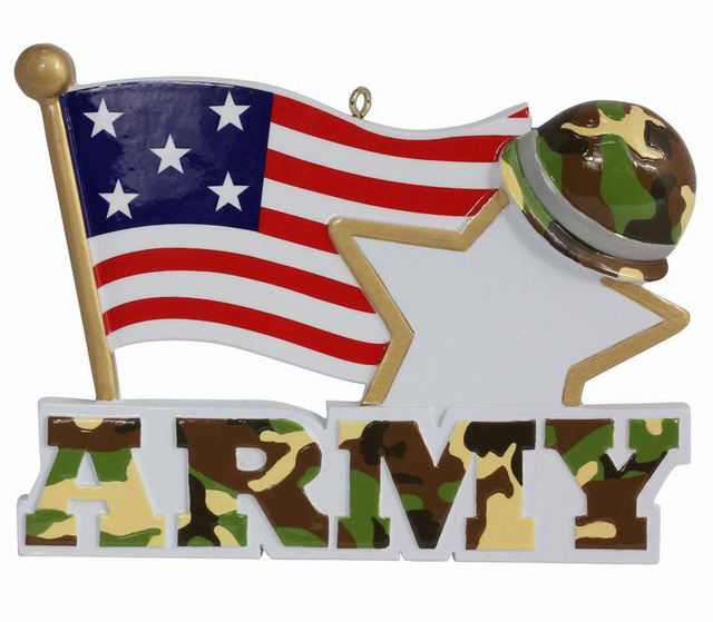 american army military resin hanging personalized christmas ornaments holiday figurines for new year gifts or home