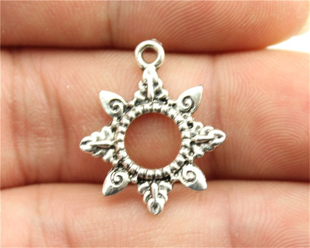 Antique Bronze Sun Charms Sun Pendant Charms For Jewelry Making Sensible Wysiwyg 12pcs 22x18mm 3 Colors Antique Gold Antique Silver