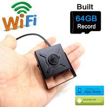 64G micro sd card ip camera 720p wifi mini home smallest cam hd cctv security wireless surveillance p2p wi fi camara JIENU