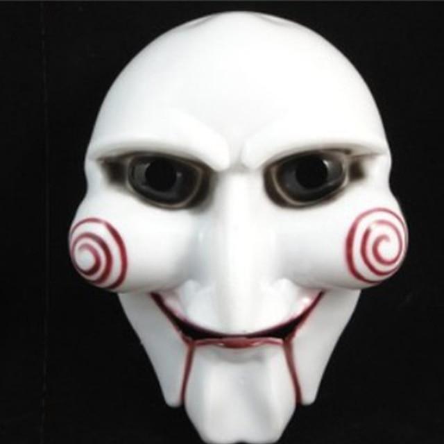 Movie Saw Chainsaw Massacre Jigsaw PVC Scary Masks Creepy ...