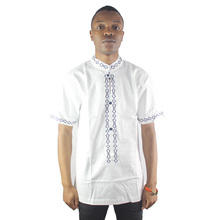 Arab Ethnic Embroidery Clothes Muslim Mens Short Kaftan Side Slit Islamic Male Attire Tops arab ethnic embroidery attire tops muslim mens short tunic t shirts