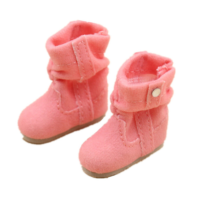 BJD Doll Shoes Toy Boots for 1/6 BJD Dolls,3CM Mini Shoes for Dolls Toys,Fashion Doll Accessories, Four Colors for Choice