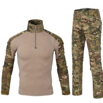 12f82a9458d Táctico camuflaje uniforme militar traje de ropa de los hombres del ejército  ropa de combate militar camisa pantalones de uniforme militar batalla