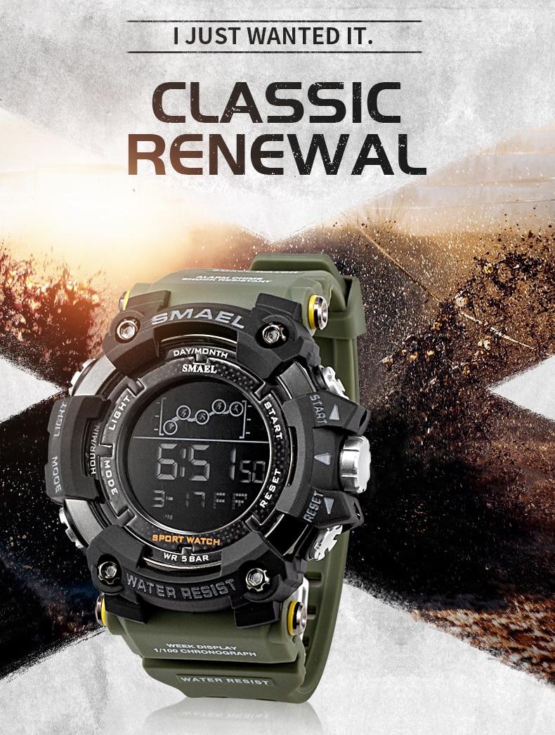 HTB1X9A1RCzqK1RjSZFLq6An2XXaA Waterproof Chronograph Digital Watch For Men Fashion Outdoor Sport Wristwatch Top Brand SMAEL Men's Watch Alarm Clock