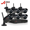 ANRAN Plug And Play 8CH CCTV System Wireless NVR Kit 1TB HDD P2P 720P IP Camera WIFI HD IR Home Security Surveillace Camera