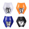 Orange Motorcycle Headlight Dirt Bike Motocross Supermoto Black Blue Shell Universal For KTM SX EXC XCF SXF SMR Headlamp