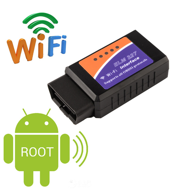 ELM327 WIFI OBD Auto Fault Diagnosis Instrument Detector Tools 1.5 Wireless Code Readers Scan Tools For Android iphone CY109-CN