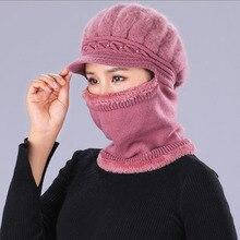 BING YUAN HAO XUAN alta calidad mujer conejo de peluche piel gorro tejido para abrigo invierno sombrero y bufanda gorro de boina sombrero esquí gorros Casuales