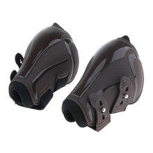 Набор ботинок из 4 частей для конского сухожилия и Фетлок, конная Передняя Задняя Защита для ног-ПУ и неопрен, регулируемая