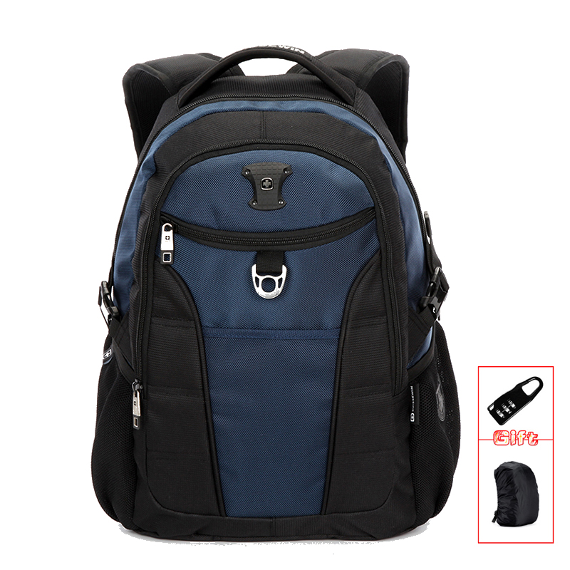 SUISSEWIN Orthopedic Backpack mens backpack bag Quality Cool School Backpack Women Business Bagpack Sac a dos Bookbag Blue