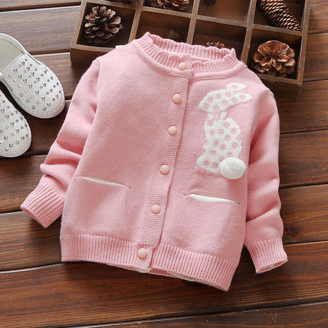 Children's Wear New Female Children's Wear Cotton Cardigan Sweater Jacket In The Fall And Winter Baby Princess Coat 1 To 3 Years