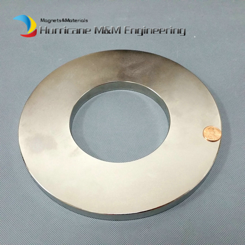 1 Pack NdFeB N42 Magnet Large Ring OD 220x110x15 mm thick 8.7 round Strong Neodymium Permanent Magnets Rare Earth Magnets ndfeb n42 magnet large disc od 100x10 mm with m10 countersunk hole 4 round strong neodymium permanent rare earth magnets